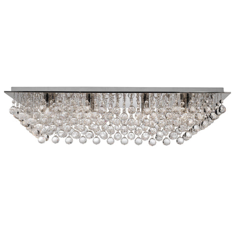 HANNA 8 LIGHTCHROME RECTANGLE FLUSH- CRYSTAL BALL