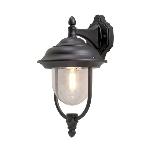 Parma 7222 Down Wall Light Black