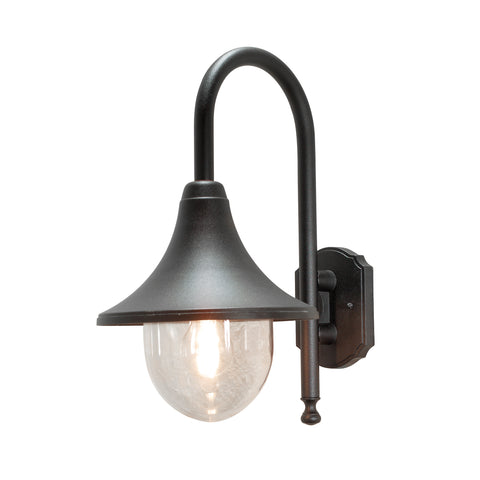 Bari 7237 Down Wall Light Black
