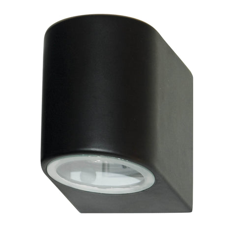 OUTDOOR & PORCH (GU10 LED) IP44 WALL LIGHT 1 LIGHT BLACK