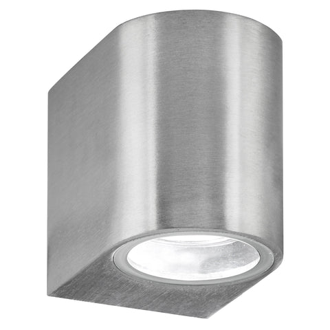 OUTDOOR & PORCH (GU10 LED) IP44 WALL LIGHT 1 LIGHT SILVER