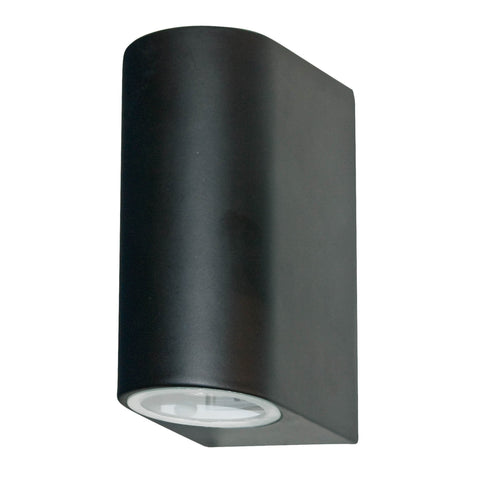 OUTDOOR & PORCH (GU10 LED) IP44 WALL LIGHT 2 LIGHT BLACK