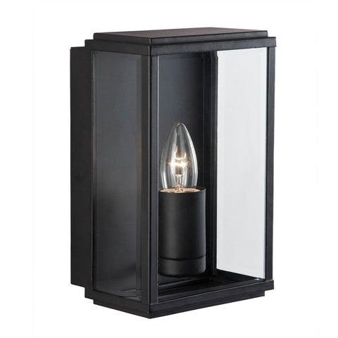 BOX OUTDOOR WALL & PORCH  LIGHT - 1 LIGHT BLACK RECTANGLE BOX