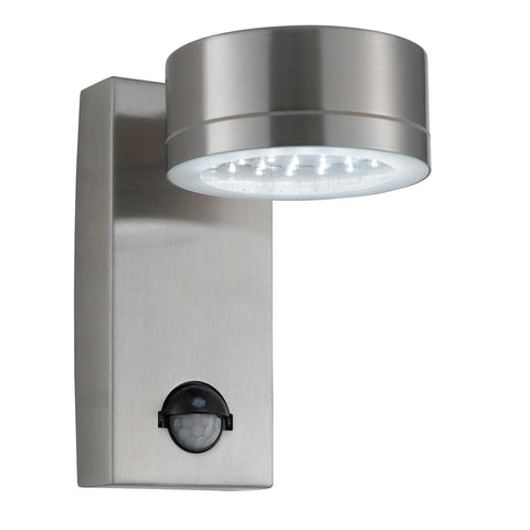 LED OUTDOOR WALL LIGHT STAINLESS STEEL CW SENSOR