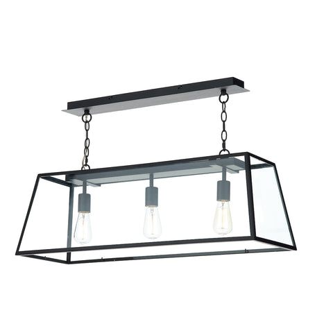 Academy 3 Light Bar Pendant Black