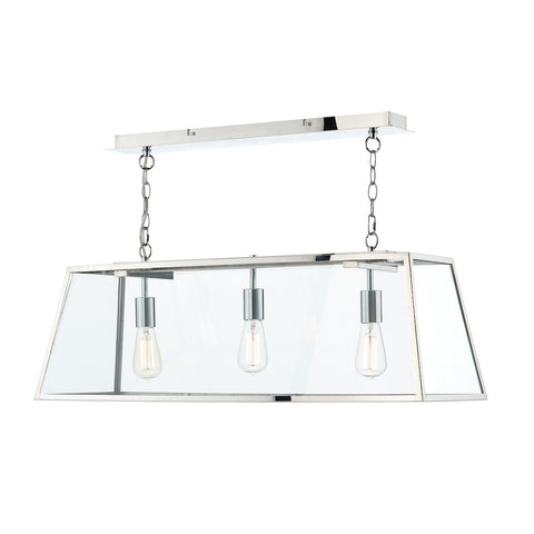 Academy 3 Light Bar Pendant Stainless Steel