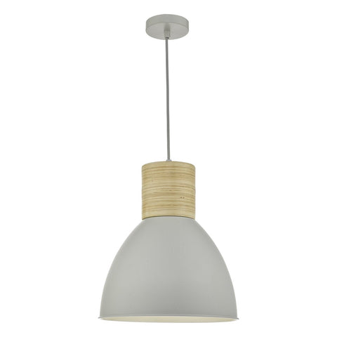 Adna Pendant Grey & Wood