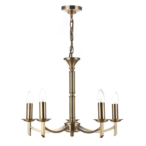 Ambassador 5 Light Dual Mount Pendant Antique Brass