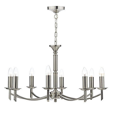 Ambassador 8 Light Dual Mount Pendant Satin Chrome