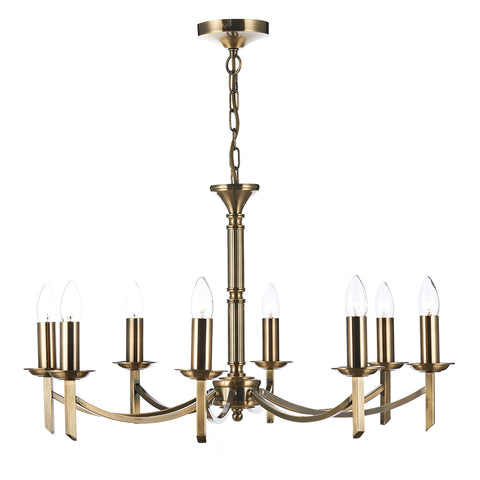 Ambassador 8 Light Dual Mount Pendant Antique Brass