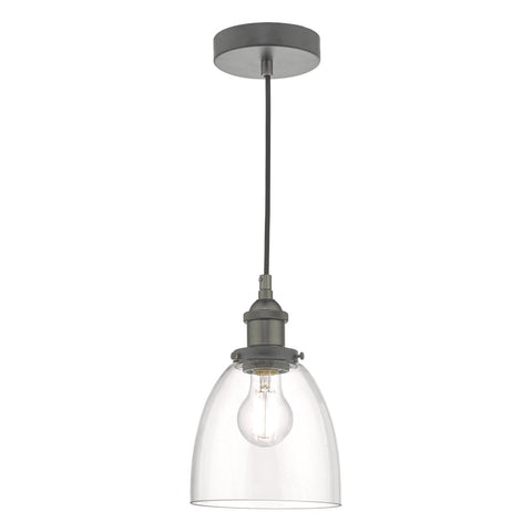 Arvin Pendant Antique Chrome & Glass