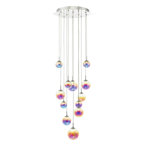 Cesario 12lt Cluster Pendant Polished Chrome & Multi Colour LED