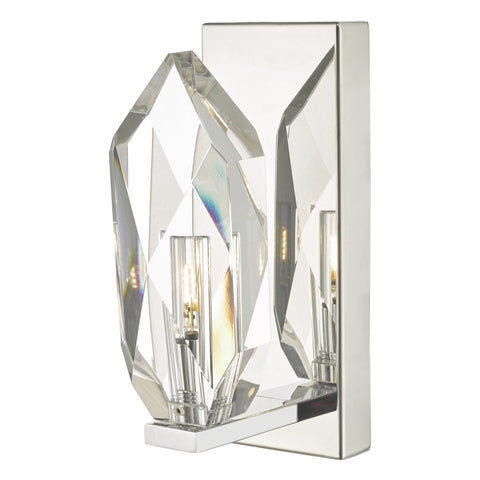 Crystal Wall Light Polished Chrome & Crystal