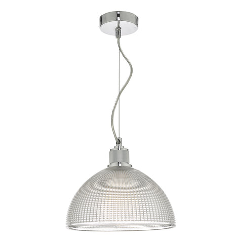 Cytheria 1 Light Pendant Chrome And Clear Glass