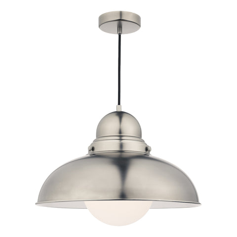 Dynamo 1 Light Pendant Antique Chrome Large