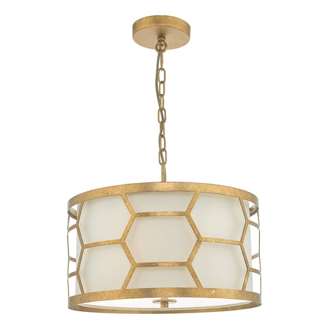 Epstein 3 Light Pendant Gold & Ivory