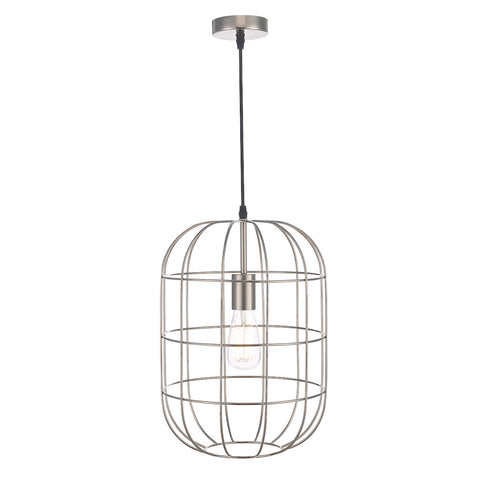 Eudora 1 Light Pendant Satin Nickel