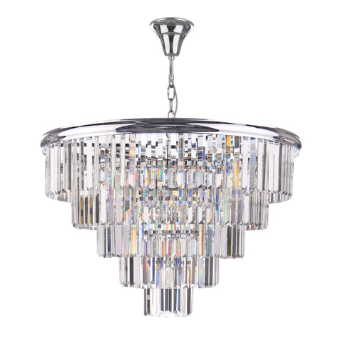 Eulalia 12 Light Chandelier Polished Chrome Crystal