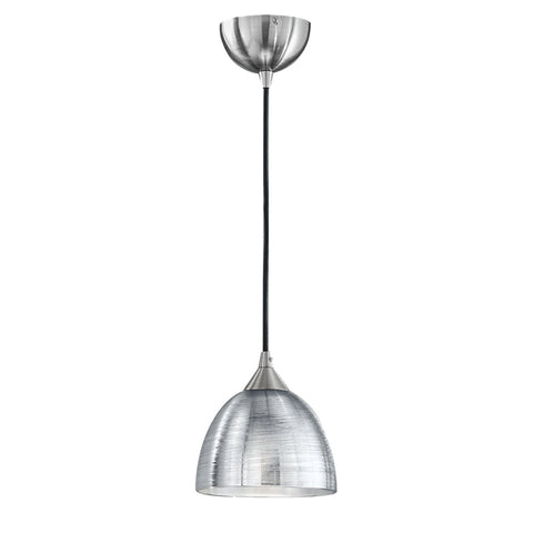 Vetross black cord suspension with translucent silver glass