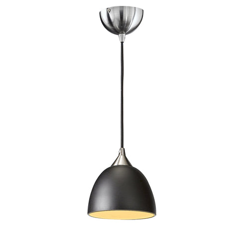 Vetross black cord suspension c/w 180mm black/gold glass