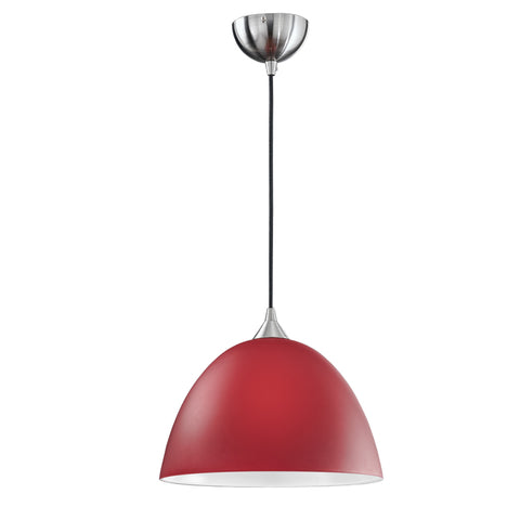 Vetross black cord suspension c/w 180mm red glass