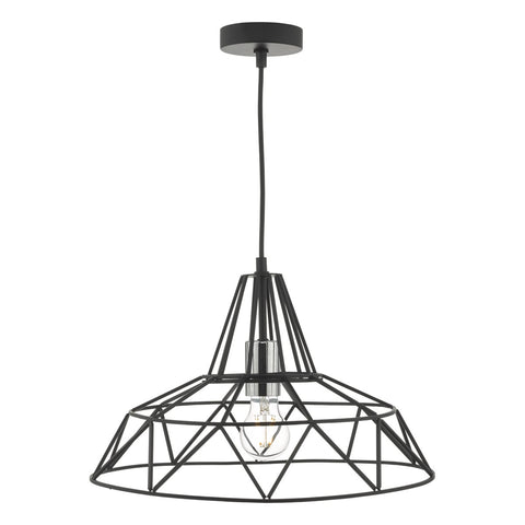 Hitika 1lt Pendant Black & Polished Chrome