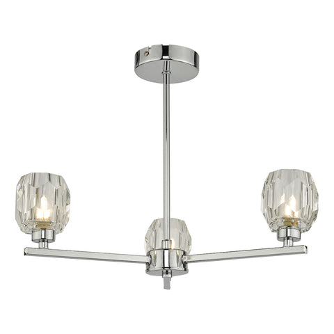 Idina 3 Light Semi Flush Polished Chrome
