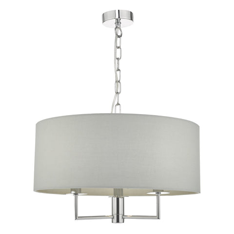 Jamelia 3lt Pendant Polished Chrome & Grey