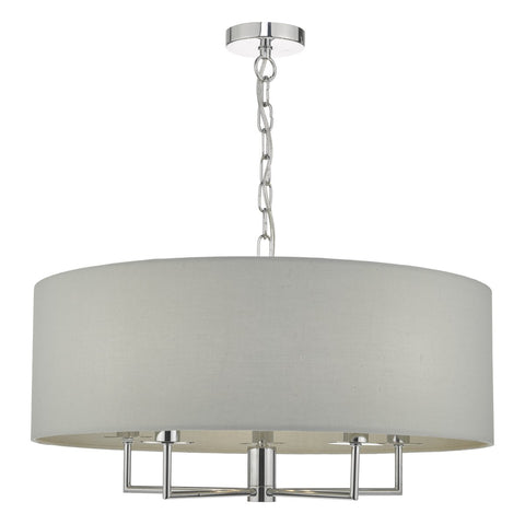 Jamelia 5lt Pendant Polished Chrome & Grey