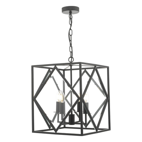 Jepsen 4lt Lantern Black & Bevelled Edge Glass