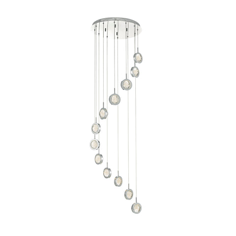 Livia 12 Light Cluster Pendant Polished Chrome Led