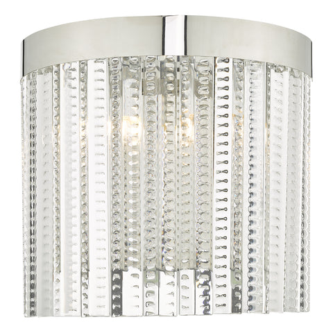 Lorant 2 Light Wall Light Clear & Polished Chrome
