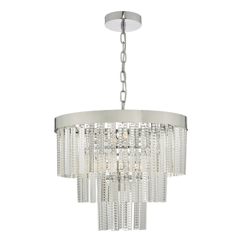 Lorant 7 Light 3 Tier Pendant Clear & Polished Chrome