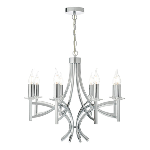 Lyon 8lt Pendant Polished Chrome & Crystal