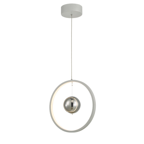 Mercury 1lt Pendant Vertical White LED