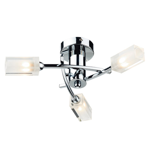 Morgan 3 Light Semi Flush Polished Chrome