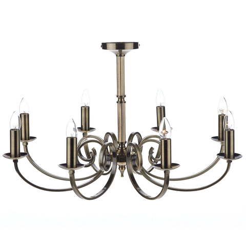 Murray 8 Light Dual Mount Pendant Antique Brass