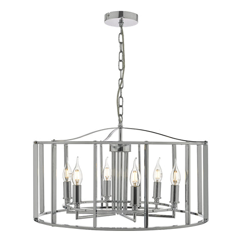 Myka 6 Light Pendant Polished Chrome
