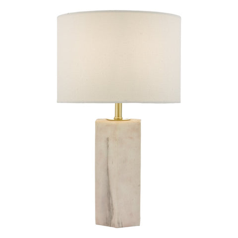 Nalani Table Lamp Pink & Marble Effect With Shade