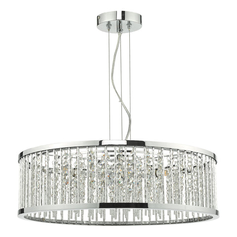 Nantes 5 Light Pendant Polished Chrome Aluminium