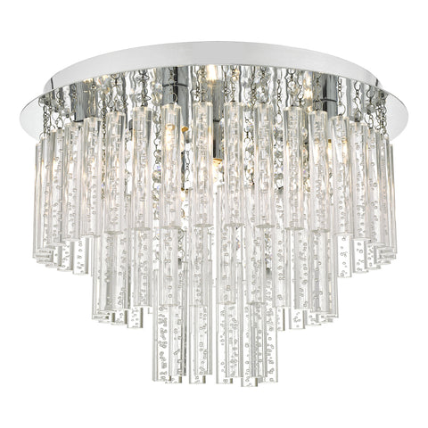 Paulita 5 Light Flush Polished Chrome And Clear Glass IP44