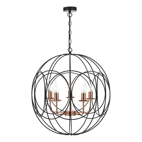 Phoenix 5lt Pendant Black & Copper