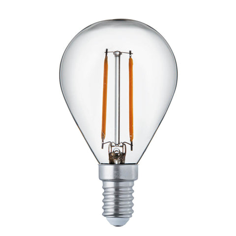 PACK 10  x GOLF BALL E14 FILAMENT LED LAMPS - 4W, 420LM, WARM WHITE