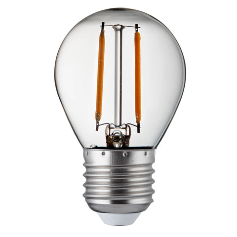 PACK 10 x GOLF BALL E27 DIMMABLE FILAMENT LED LAMPS - 4.5W, 400LM, WARM WHITE