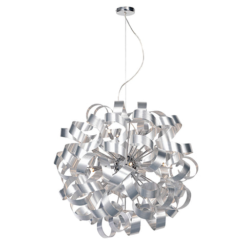 Rawley 12 Light Ribbon Pendant Aluminium Finish