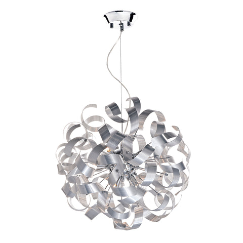 Rawley 9 Light Ribbon Pendant Aluminium Finish