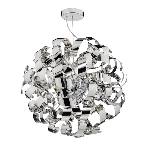 Rawley 9 Light Pendant Polished Chrome