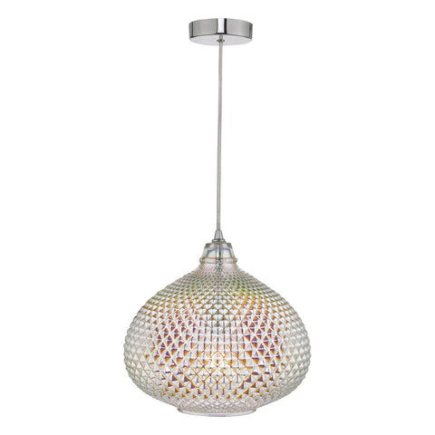 Roisin Pendant Glass & Polished Chrome ROI0155