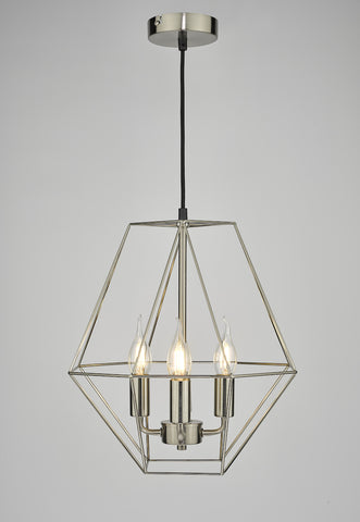 Simbala 4 Light Pendant Satin Chrome