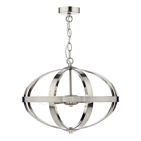 Symbol 3 Light Pendant Satin Chrome